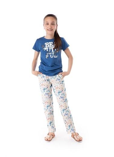 Pamuk & Pamuk Kelebek Desen Genç Kız Pijama Takım Renkli